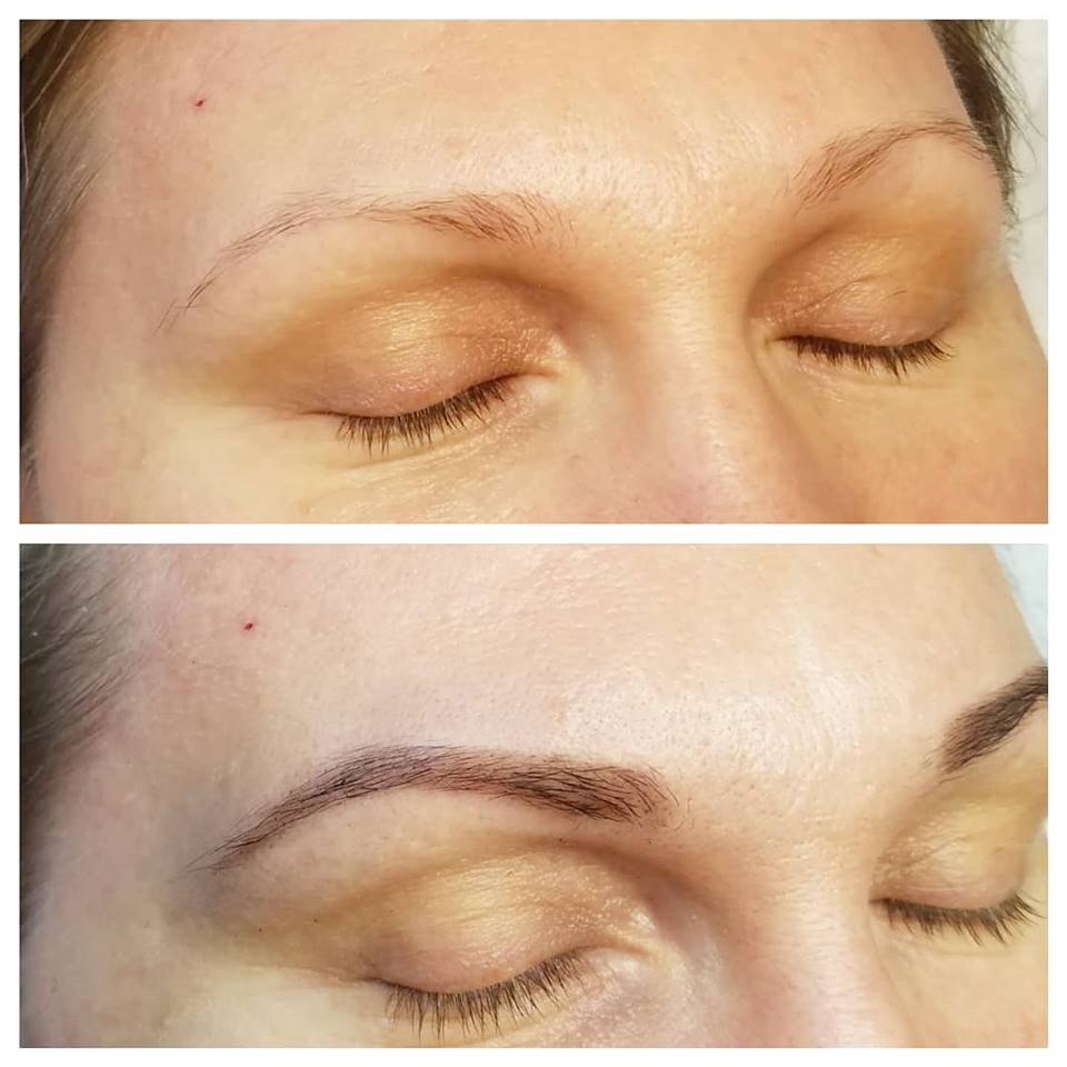 Eyebrow Henna Tinting before & after
